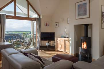 The wood-burner makes Chyandour as great a holiday destination in winter as it is in summer, storm watching from the coziness of the living room!
