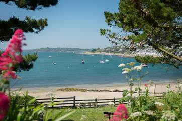 St Mawes has several sandy beaches.
