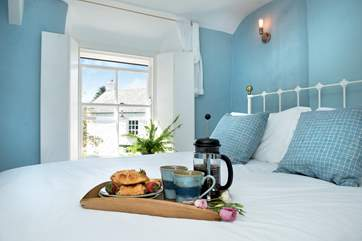 Breakfast in bed - why not, you are on holiday after all!