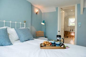 Bedroom 1 has a king-size double bed and the most fabulous en suite bathroom.