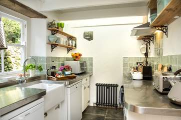 The delightful cottage kitchen...