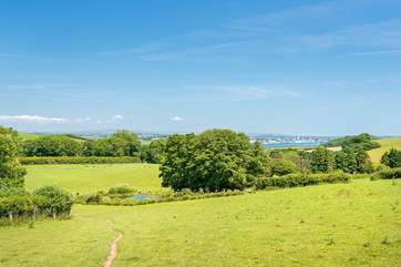 There are distant views across the countryside to Plymouth Sound, the city of Plymouth and  Dartmoor.