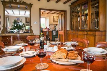 The dining-area - perfect for special holiday meals and celebrations.