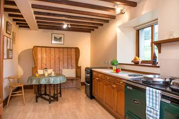 There's a small dining-area in the kitchen - perfect for a quick breakfast or morning coffee.