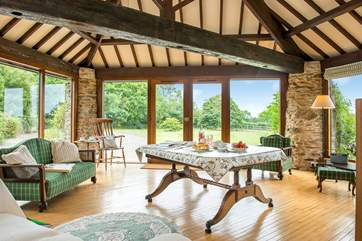 The 'round room' really makes the most of the views and gives easy access to the garden.