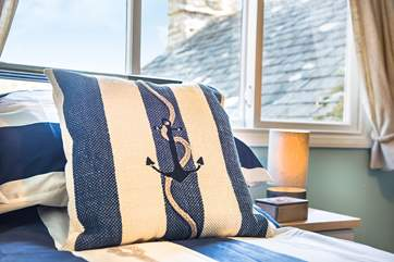 Lovely nautical themed linen - a reminder of how close you are to the sea.