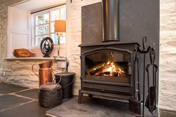 The toasty wood-burner, a welcome sight on those winter escapes.