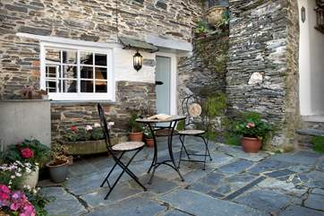The pretty courtyard is yours to sit out and enjoy, There is joint access to Little St Hugh and  the owners' cottage down a side alleyway and over the courtyard.