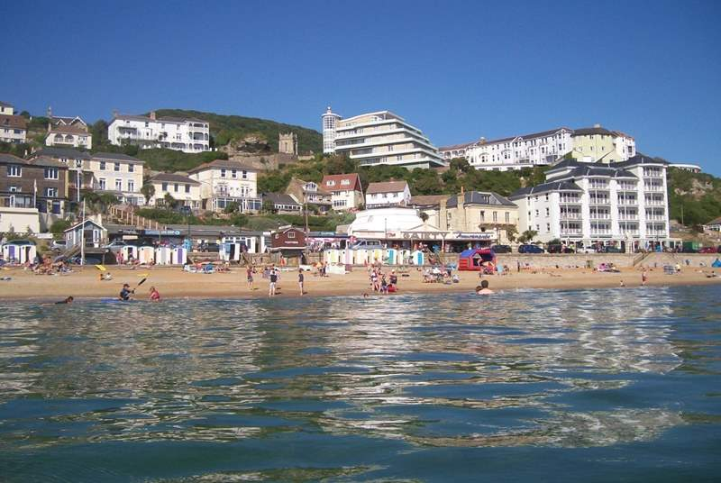 The gorgeous Ventnor beach is just a few steps away from the apartment