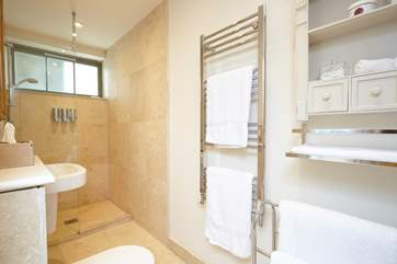 Off the twin bedroom is the en suite shower-room