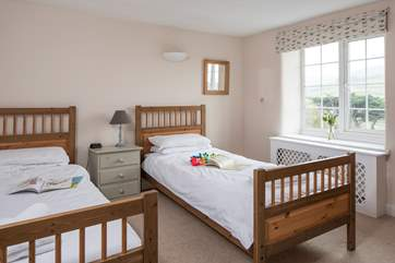 Bedroom 4 has 3ft twin beds and that fabulous view of the sea.