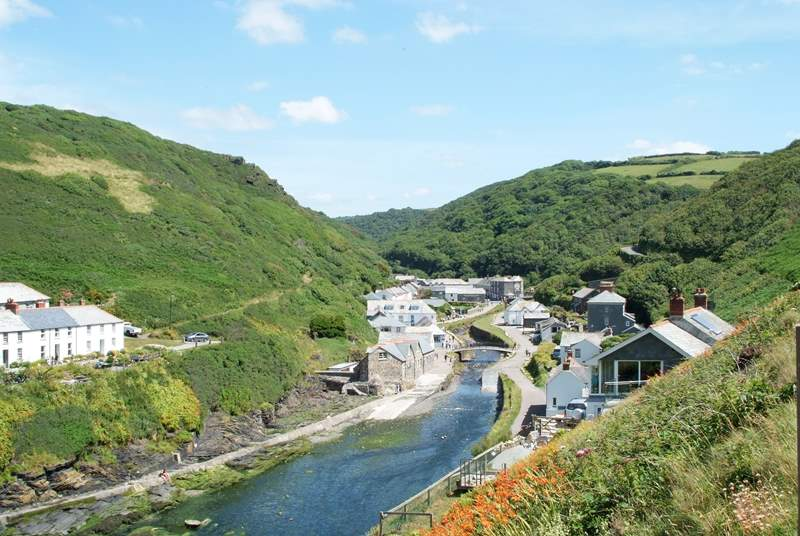 The pretty harbourside village of Boscastle.