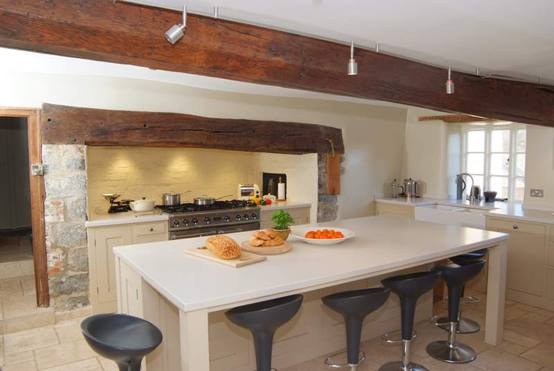 This historic farmhouse has a stunning contemporary kitchen.