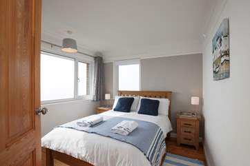 The second double bedroom is lovely, bright and airy with direct views out to the sea