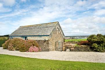 Treretherne Barn enjoys a wonderful setting.