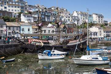 The Golden Hind, one of Brixham's infamous sights.