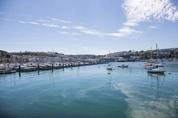 The beautiful Brixham marina.