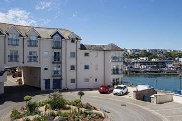 The stunning Moorings Reach apartments stand very proud overlooking the harbour.