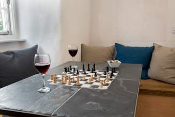 After meals you can enjoy the odd game of chess or checkers.