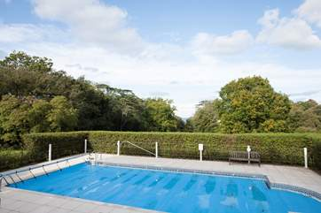 The swimming pool is open from May to September