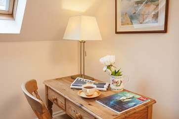 Put a note in the journal or send a postcard to loved ones about your lovely stay with Classic Cottages