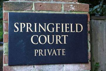Welcome to Springfield Court, an exclusive development on the outskirts of Seaview village