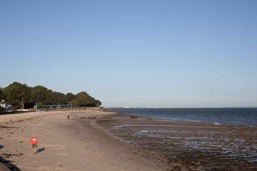 Take stunning walks along the seafront, go left for the town of Ryde or right for village Bembridge