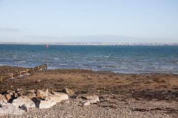From the seafront you can look over to the mainland, watch the ships sail by or enjoy a spot of rockpooling