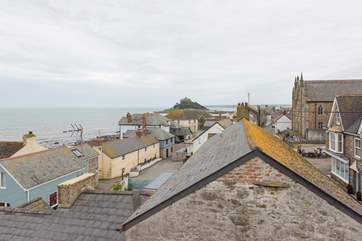 The view across Marazion from the second floor.
