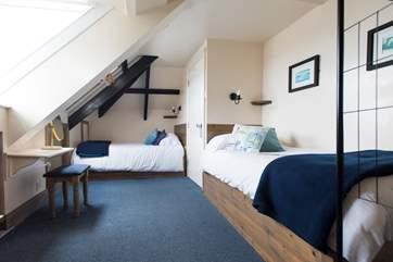 The second floor en suite twin bedroom.