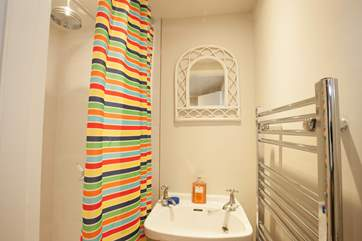 The downstairs shower-room, conveniently helping avoid morning queues, as we're sure you can't wait to get out and explore the Island!