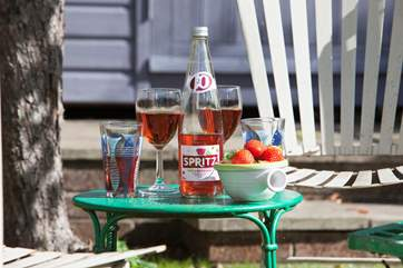 Take a drink out to the garden, sit back and relax in the warm summer sunshine.