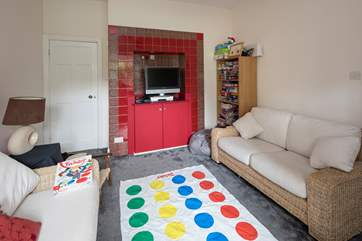 The play-room has TV, DVD player, books, games and an Xbox 360 to keep all the family entertained.