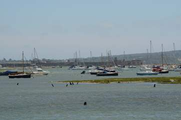 Nearby Keyhaven, with Hurst Castle in the background a short ferry trip or a great walk along the shingle spit from Milford on Sea.