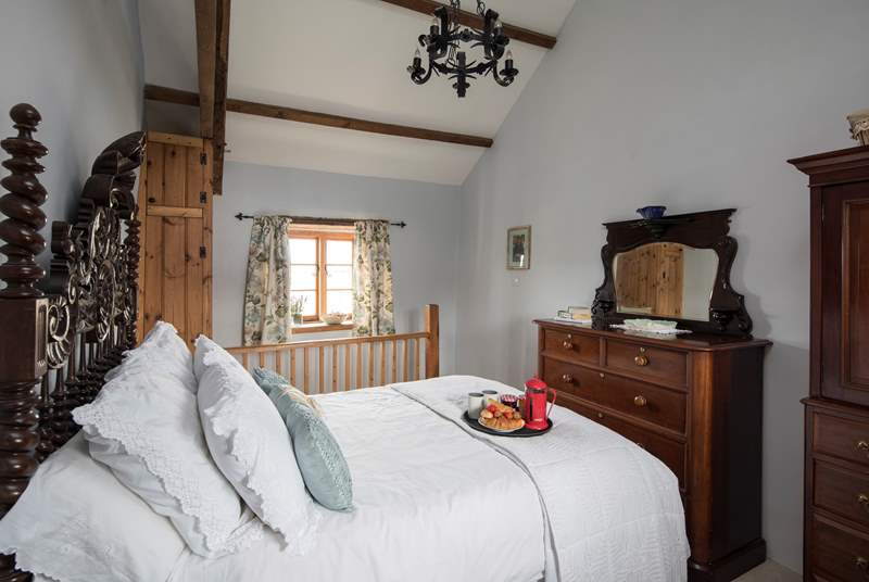 Charming bedroom 3  is accessed by three steps leading down from the twin-room, or via the staircase pictured which leads to the dining-area which has direct access to the ground floor wet-room