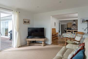 The living area is open plan, great for spending time together.