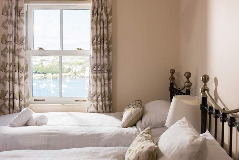 Relax in bed with a morning cup of tea and watch the boats out on the water.