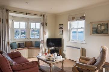 Comfortable seating, a Smart TV and wonderful views...what more could you want?