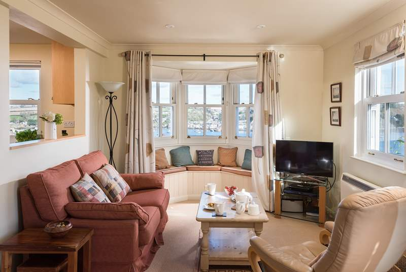 The open plan ground floor has views from every window.