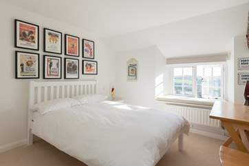 All three of the other bedrooms in the farmhouse have double beds, lovely deep windowsills and panoramic views. This is bedroom 2.