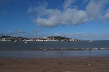 This is the fabulous sandy beach at Instow, looking across to the historic fishing village of Appledore