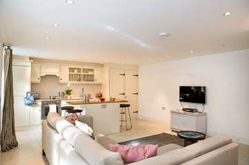 The open plan living-room will ensure family time together