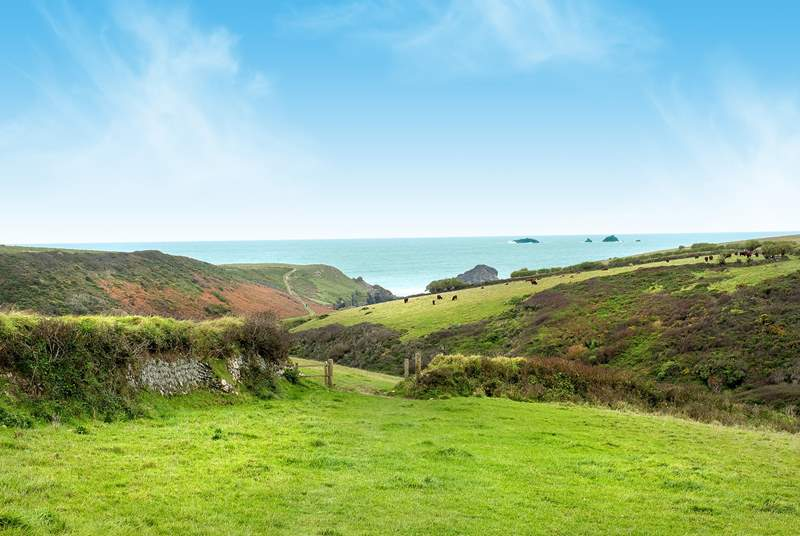 You are only a five minute stroll from the coastal footpath.