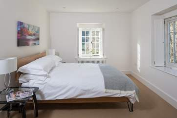 The master bedroom, bedroom 1, with comfy 5ft bed and great views over the valley.