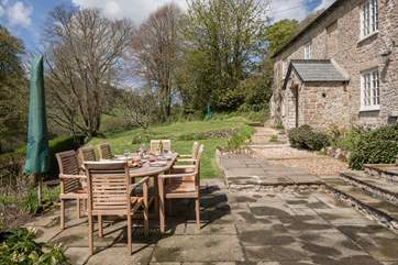 Dine al fresco in this beautiful garden.