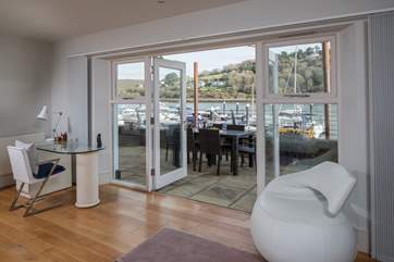 Fling open the patio doors and you have that wonderful feeling of being outside from the comfort of your living-area.