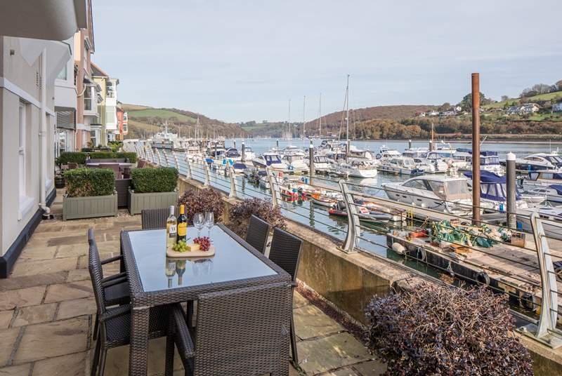 There are unrivalled views across the River Dart from your terrace.