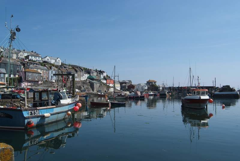 Mevagissey harbour is a ten minute walk down into the village.