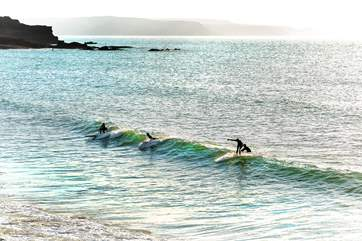Try out your surfing skills on the Atlantic rollers.