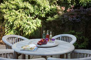 Relax on a summers evening with a glass of wine and a good book